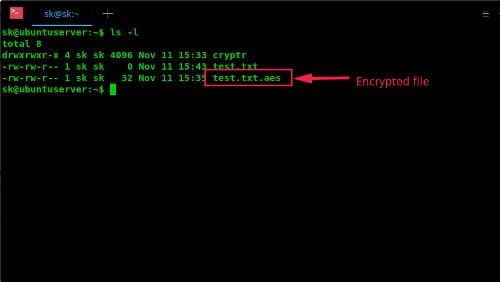 Cryptr: semplice tool da shell per criptare file