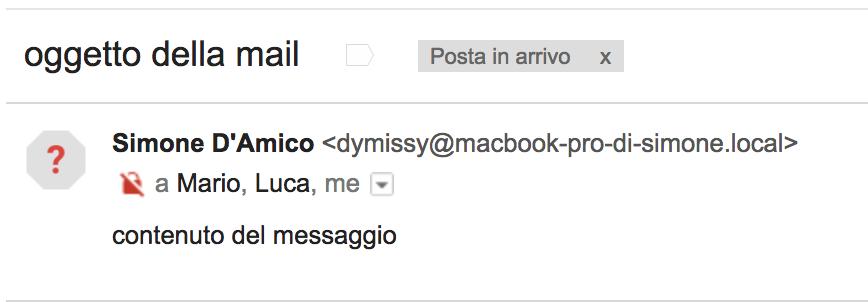 Invio della mail a destinatari multipli