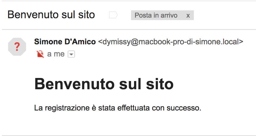 Invio della mail HTML a destinatari multipli