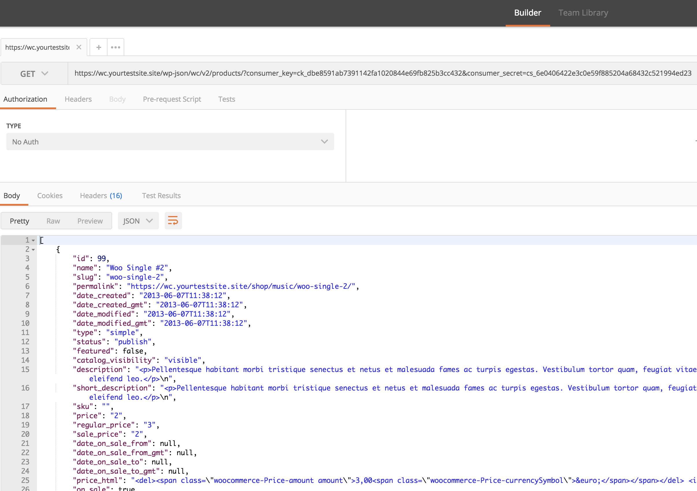 Testare gli endpoint delle API