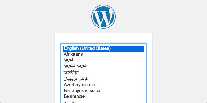 WordPress in esecuzione su IP 127.0.0.1