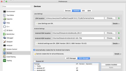 Qt Creator 4.5: novità per gli sviluppatori Android e iOS