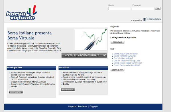 Interfaccia Borsa Virtuale