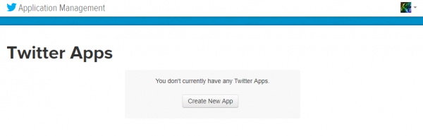 Pagina iniziale della sezione developer di Twitter