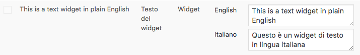 Traduzione stringhe dei widget di testo
