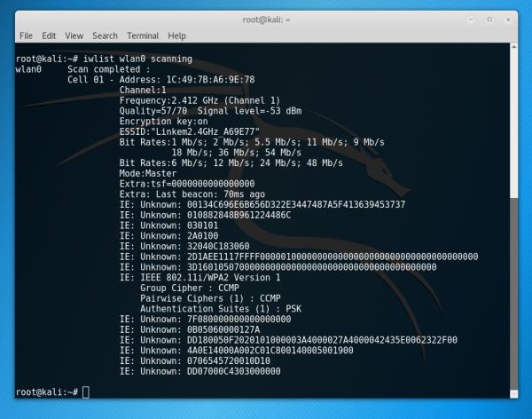 Scansione delle reti disponibili tramite Raspeberry Pi