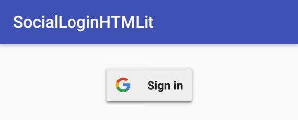 LoginActivity per autenticazione con Google