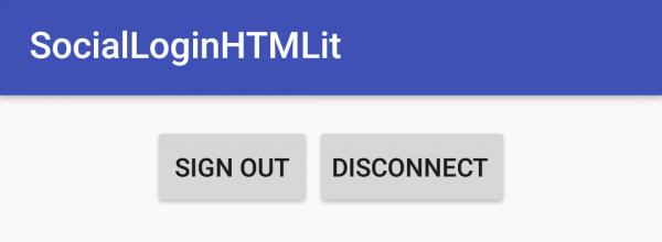 LoginActivity dopo l'autenticazione dell'utente tramite Google
