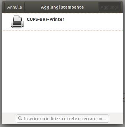 Aggiunta della stampante di rete in Ubuntu
