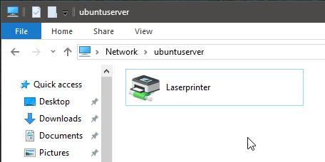 Accesso alle stampanti condivise da Windows