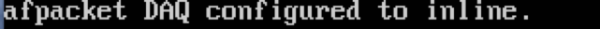 Output generato da Snort con librerie DAQ configurate in modalità inline