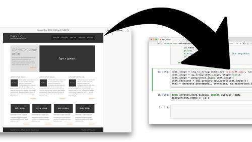 Da mockup ad HTML/CSS con l'artificial front-end automation