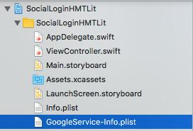 Locazione del file GoogleService-Info.plist