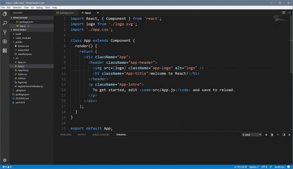 Ambiente di Visual Studio Code