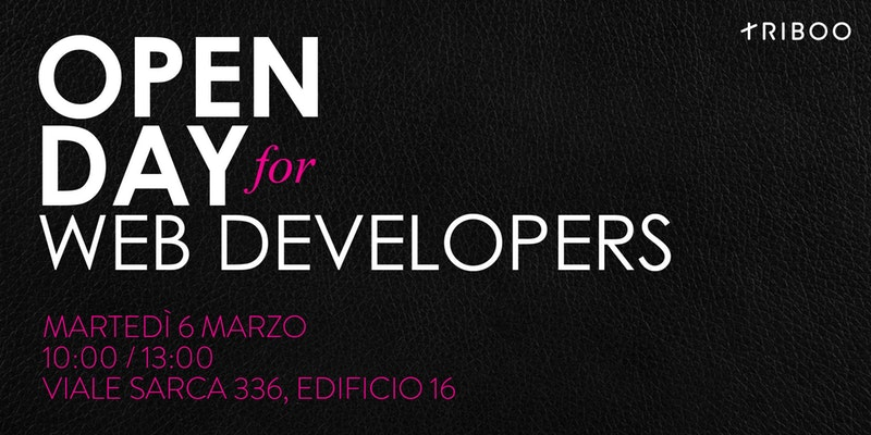 Il 6 marzo a Milano è OPEN DAY for WEB DEVELOPERS