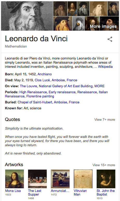 Knowledge Graph Card