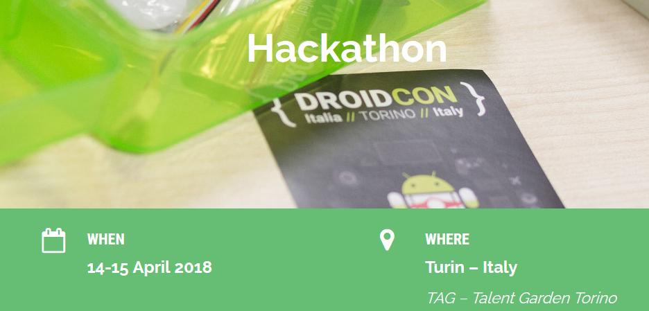 Droidcon Italy 2018: 2 giorni di hackathon per gli sviluppatori Android