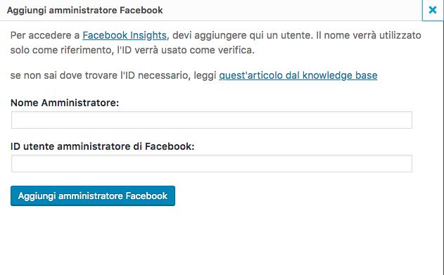 Amministratore Facebook App
