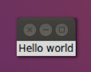 Hello world con Tkinter