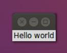 Hello world con Tkinter