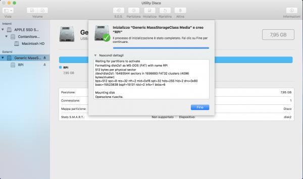 Formattazione SD Card su Mac OS
