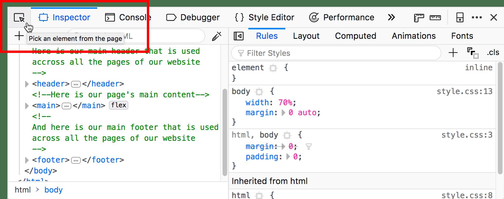 Firefox Developer Tools: arrivato l'Accessibility Inspector