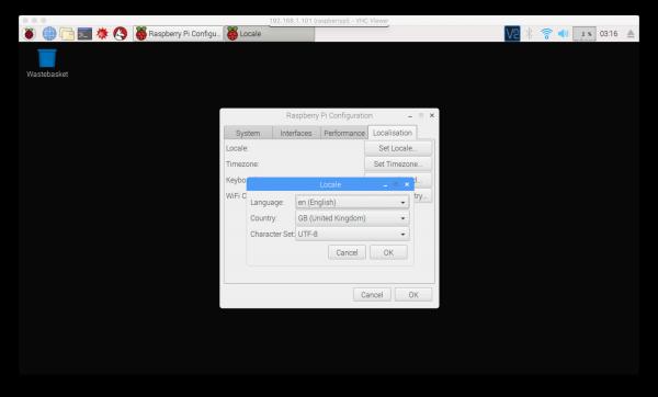 Impostazioni di localizzazione su Raspbian