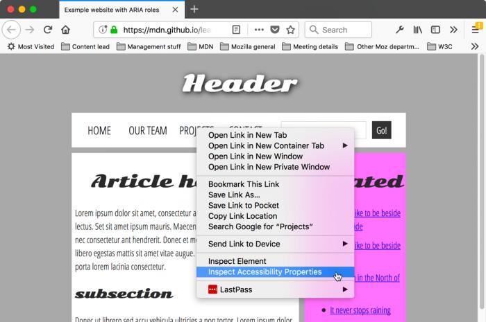 web-page-context-menu