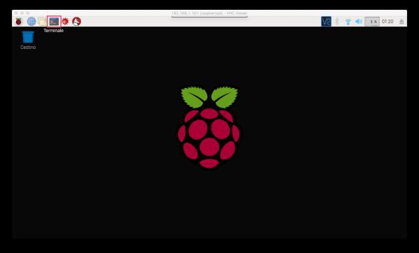 Desktop di Raspbian su Raspberry Pi