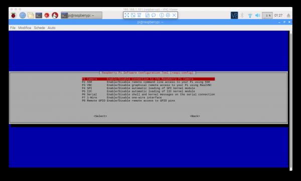 Interfacing Options in raspi-config su Raspbian