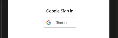 Schermata di autenticazione con Google