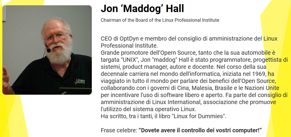 "Jon ""Maddog"" Hall: fare soldi con l'Open Source"