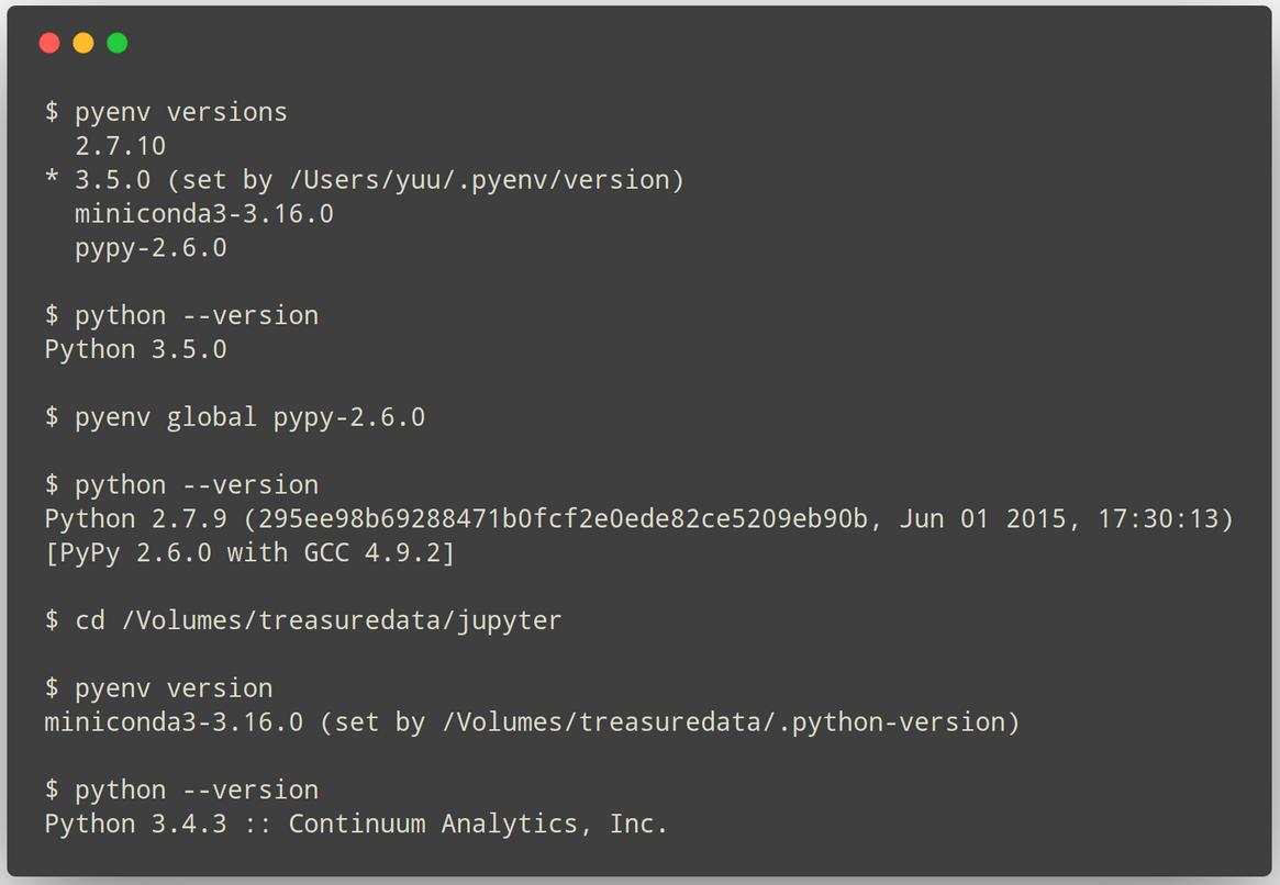 pyenv: gestire più versioni di python su Linux