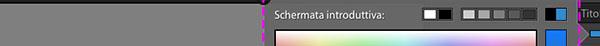 Formattazione della scherma introduttiva