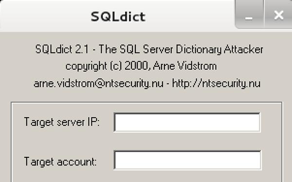 Interfaccia grafica di SQLDict