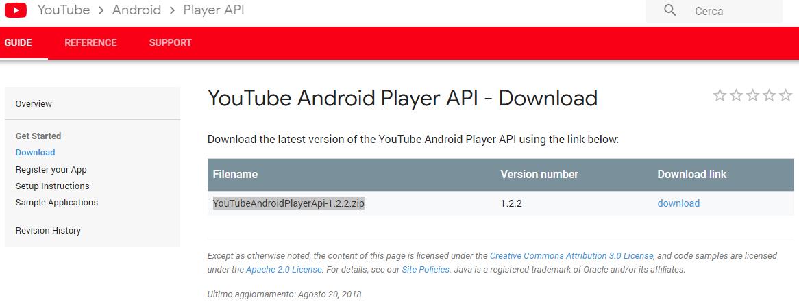 Android: YouTube Data API, integrarle su un'app | Mobile HTML it