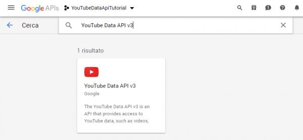 Risultato della ricerca della API