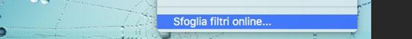 Sfoglia Filtri Online