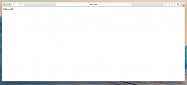 Schermata del browser, che mostra la risposta del server HTTP