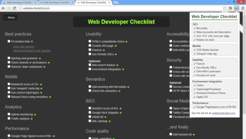 Web-Developer-Checklist