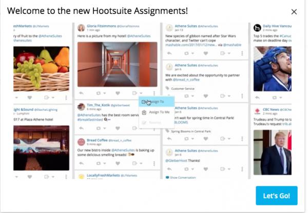 Assegnazione della risposta ai commenti ad un membro del team tramite Hootsuite
