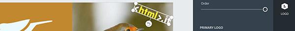Modifica e rotazione del logo