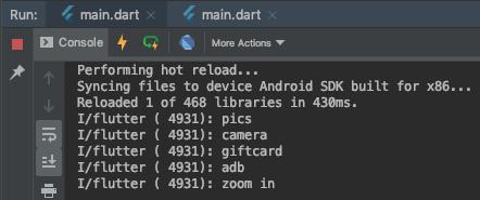 Output della console ad ogni click di un elemento della lista