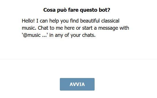 Pulsante per l'avvio di un Bot