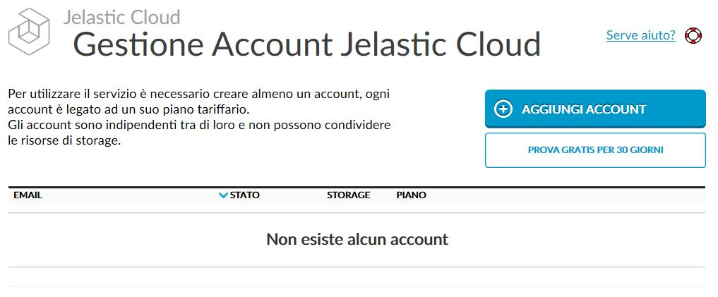 Gestione account