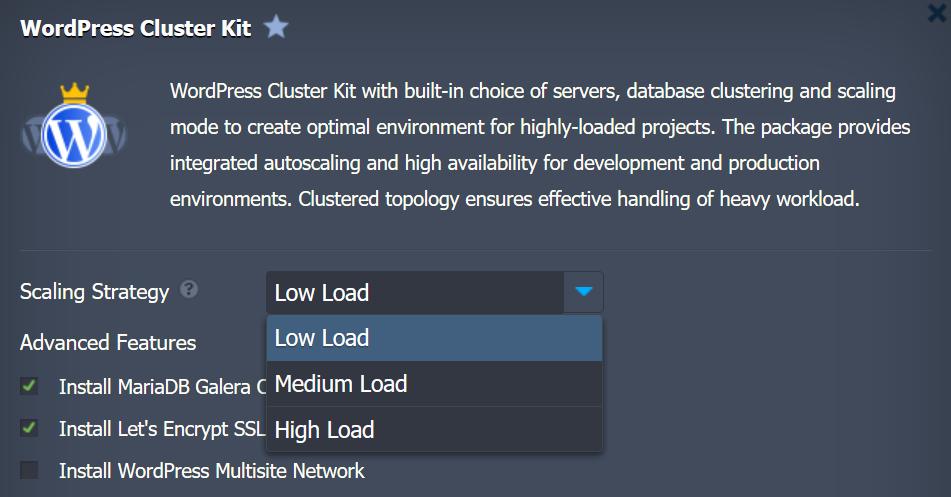 Installazione del WordPress Cluster Kit su Jelastic