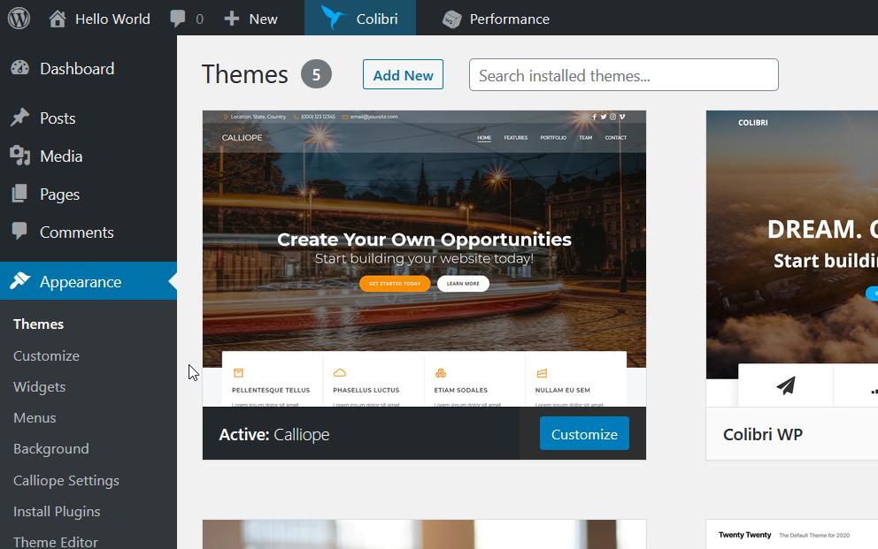 Modifica del template su WordPress