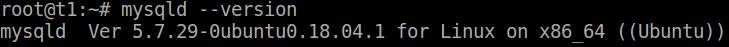 Verifica della configurazione di MySQL