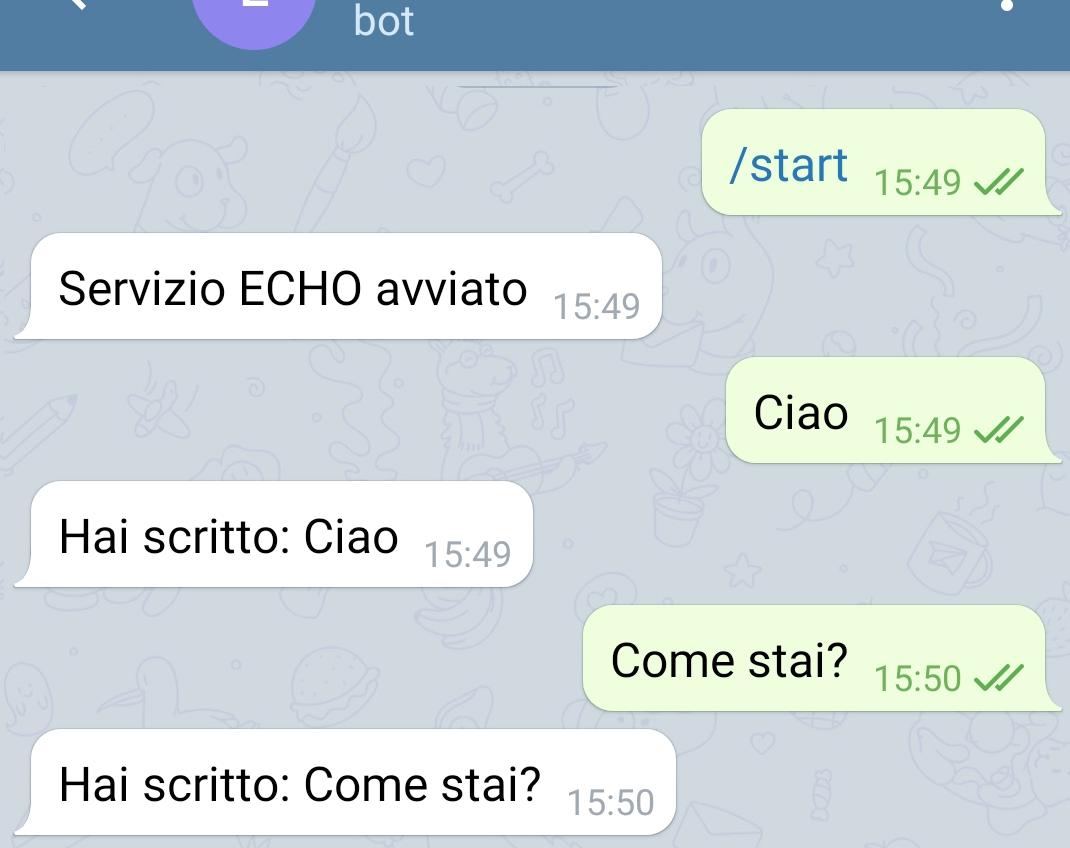 Bot per un servizio echo