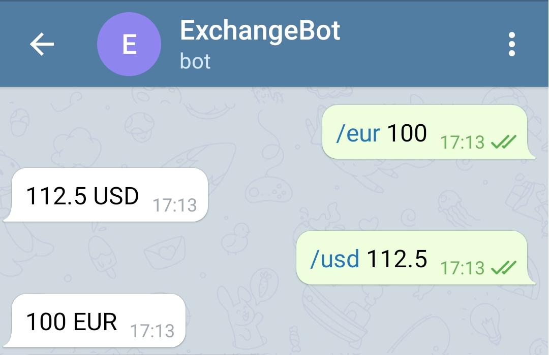 Convertire valuta con un bot